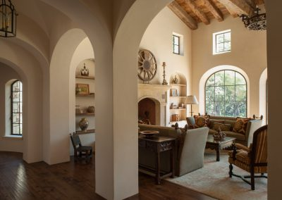 photo of Hacienda living room, side view, design by Gardner & Associates