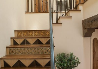 photo of Hacienda stairs, design by Gardner & Associates