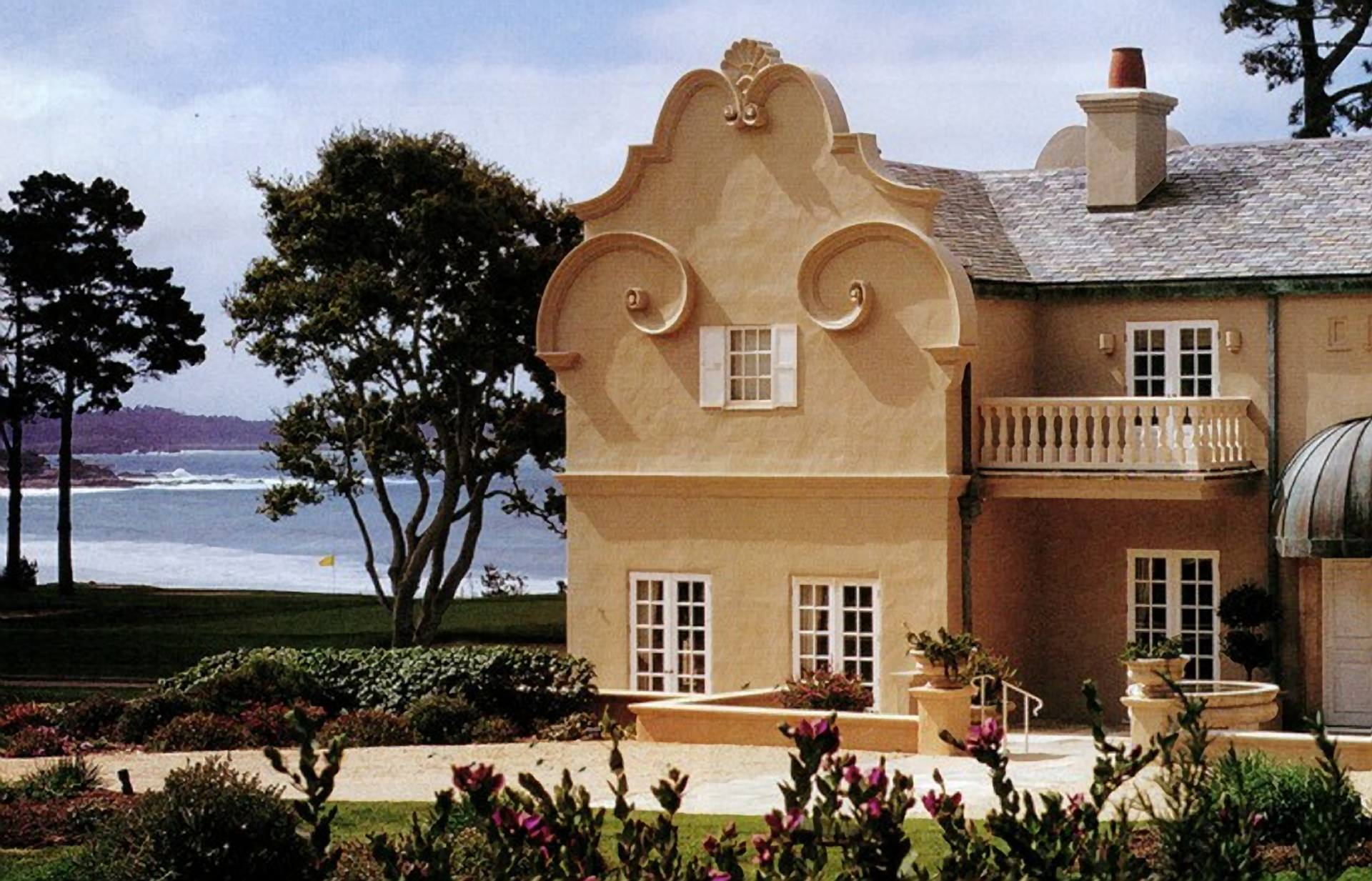 Pebble Beach Estate, Front Exterior, design by Gardner & Associates